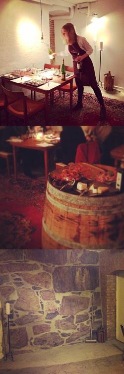 Vinprovning i vår vinkällare